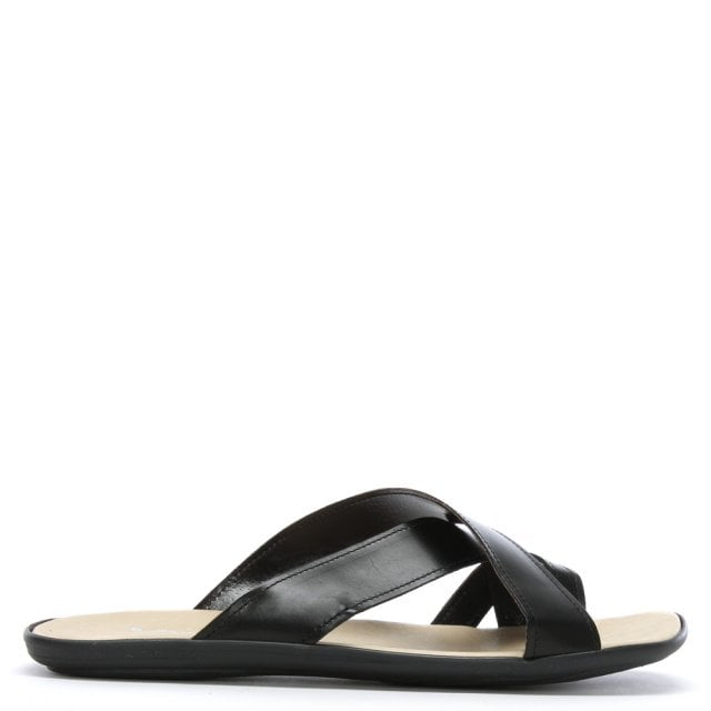 Rocky 301 Black Leather Toe Loop Sandals