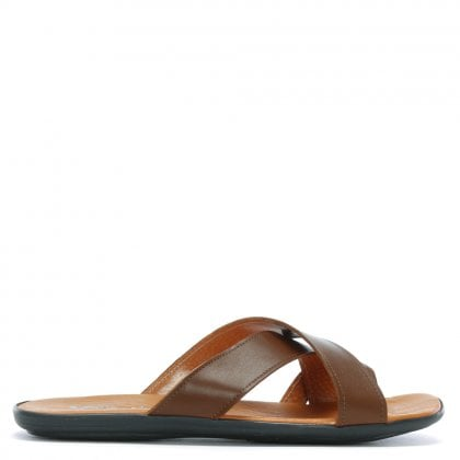 Rocky 301 Tan Leather Toe Loop Sandals
