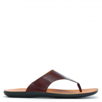 Rocky 302 Burgundy Leather Toe Post Sandals