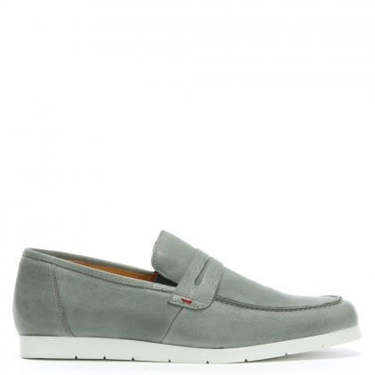 Rocky 307 Grey Leather Loafers