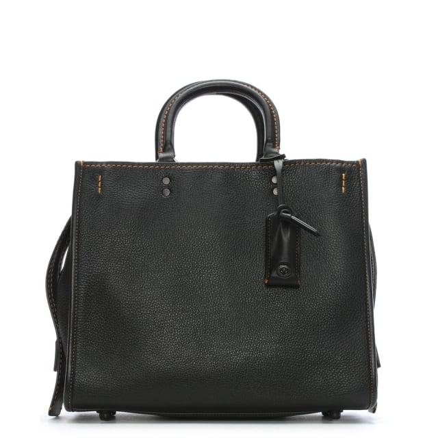 rogue-glovetanned-pebble-black-leather-satchel-bag