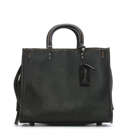 Rogue Glovetanned Pebble Black Leather Satchel Bag