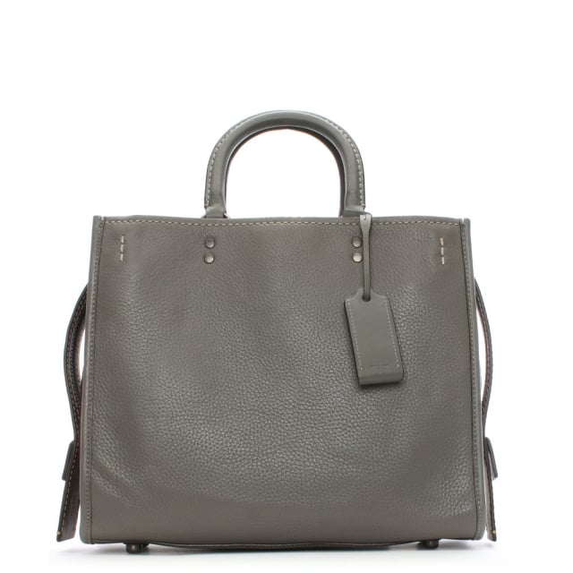 Coach Rogue Glovetanned Pebble Grey Leather Satchel Bag