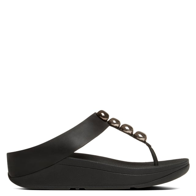 Rola Black Sandal Fitflop Toe Leather Post OPkXiZu