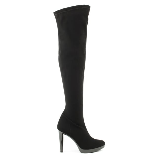 Romance Black Over The Knee Stretch Boot