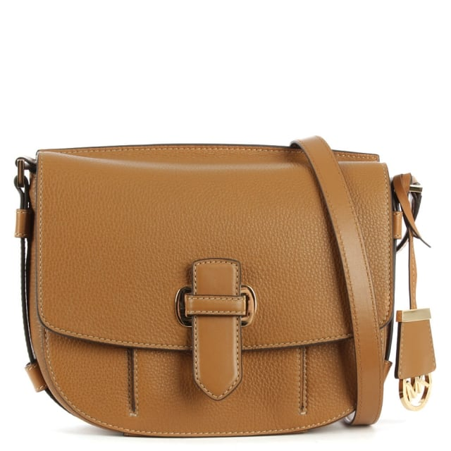 Romey Medium Acorn Leather Messenger Bag