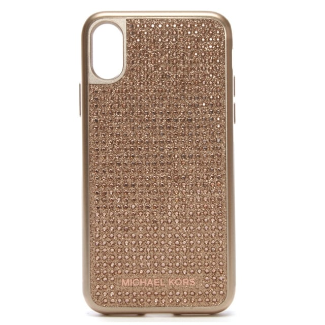 sale retailer 1f323 82700 Rose Gold Electronic Diamante iPhone X Case