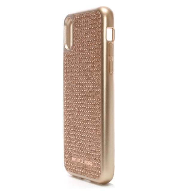 sale retailer fd880 e6dd9 Rose Gold Electronic Diamante iPhone X Case