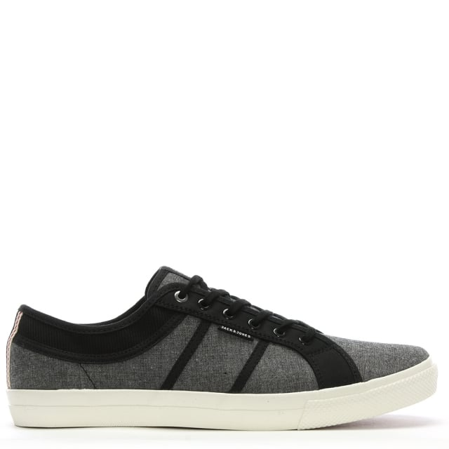 Ross Black Canvas Two Tone Sneakers