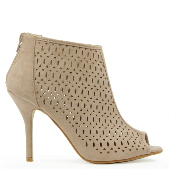 Runcorn Taupe Laser Cut Shoe Boot
