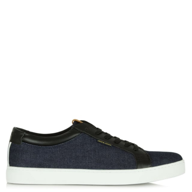 Sable Denim Fabric Lace Up Trainer