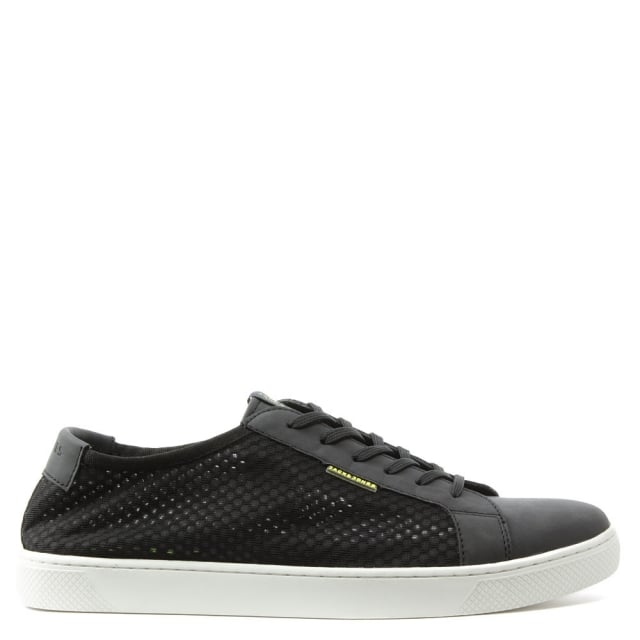 Sable Mesh Black Lace Up Trainer