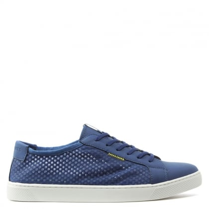 Jack & Jones Sable Mesh Blue Lace Up Trainer