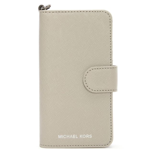 Saffiano Cement Leather Folio iPhone 7 Case