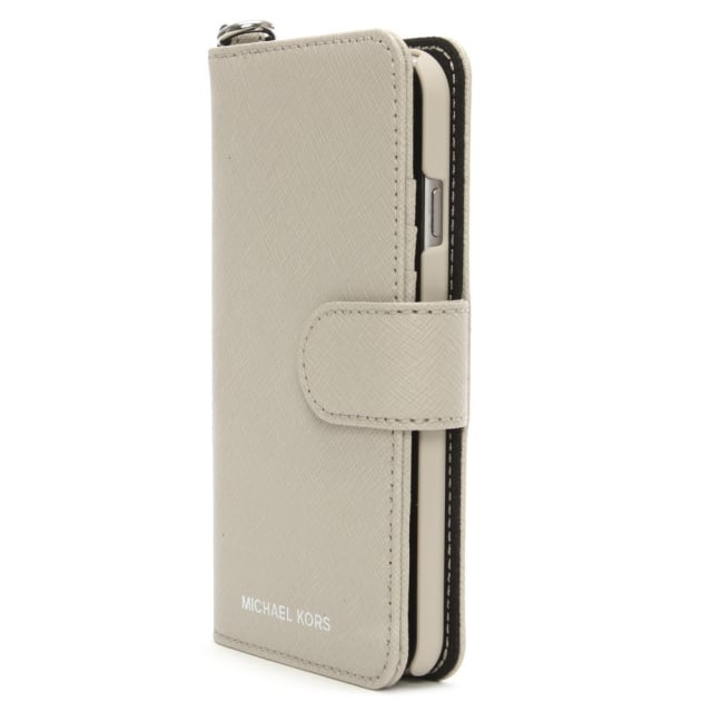 low priced 01a0d 7a073 Saffiano Cement Leather Folio iPhone 7 Case