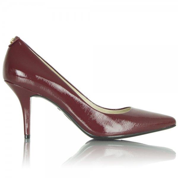 Michael Kors Burgundy Patent Women s Mid Heel Pump
