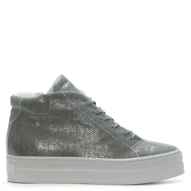 salix grey metallic leather flatform high tops