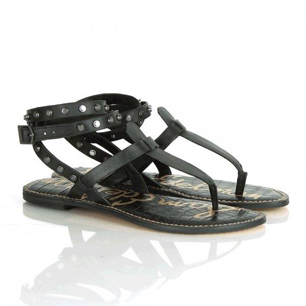 Leather Sandal Gabriela Sam Edelman Black Studded srdtQhC