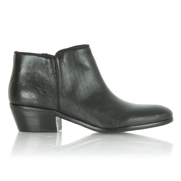 9640edb20fe0 Sam Edelman Sam Edelman Petty Black Leather Ankle Boot