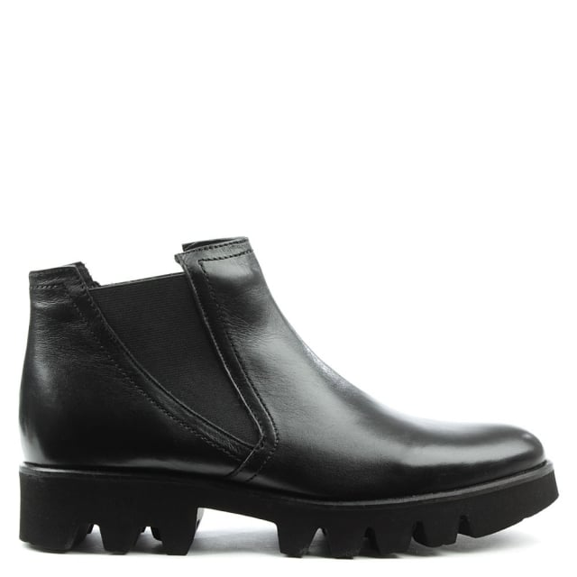 Sammie Black Leather Chunky Chelsea Boot