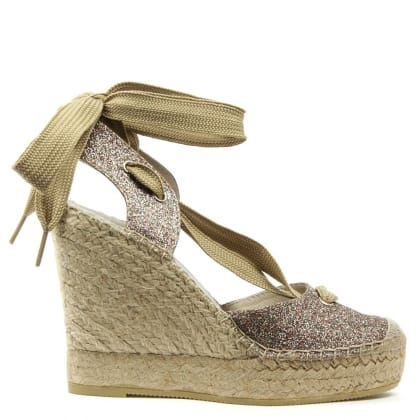 San Marcos Multicoloured Ankle Tie Wedge Espadrille