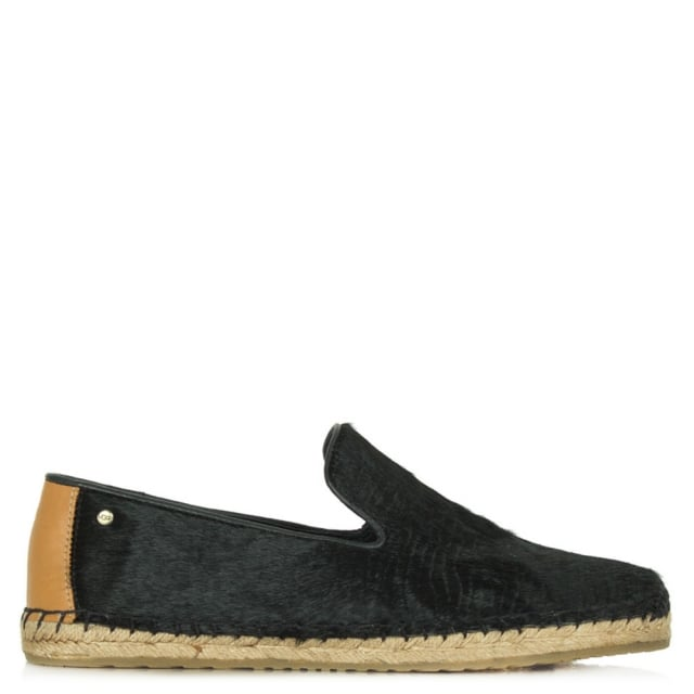 Sandrinne Black Calf Hair Espadrille