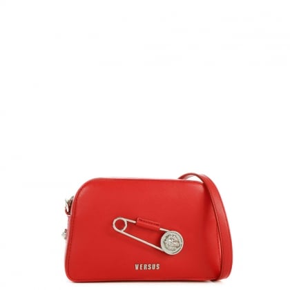 Sanur Red Leather Cross-Body Bag