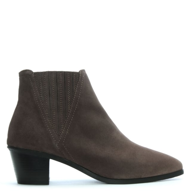 Sara Taupe Suede Chelsea Boots