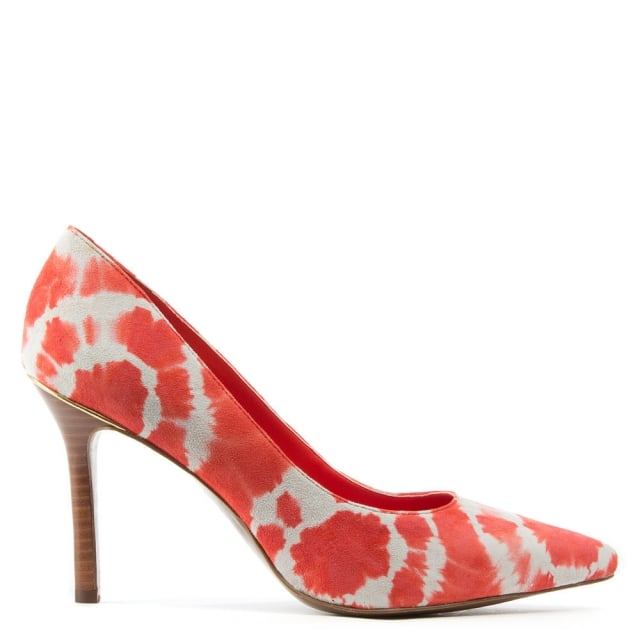 Sarina Orange Suede Tie Dye Court Shoe