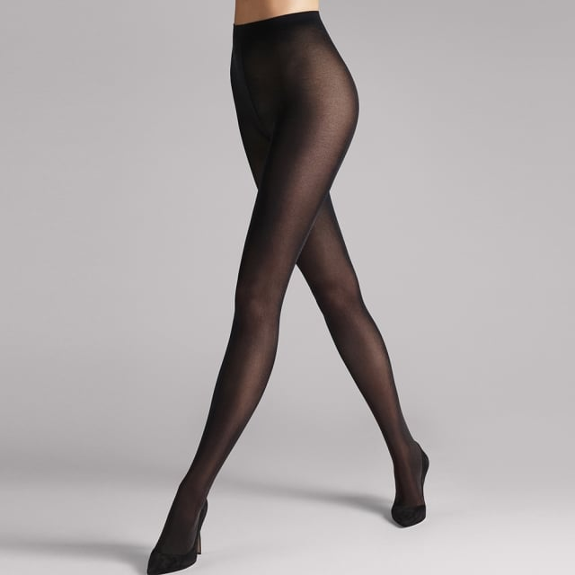 Satin Opaque 50 Black Women's Tights