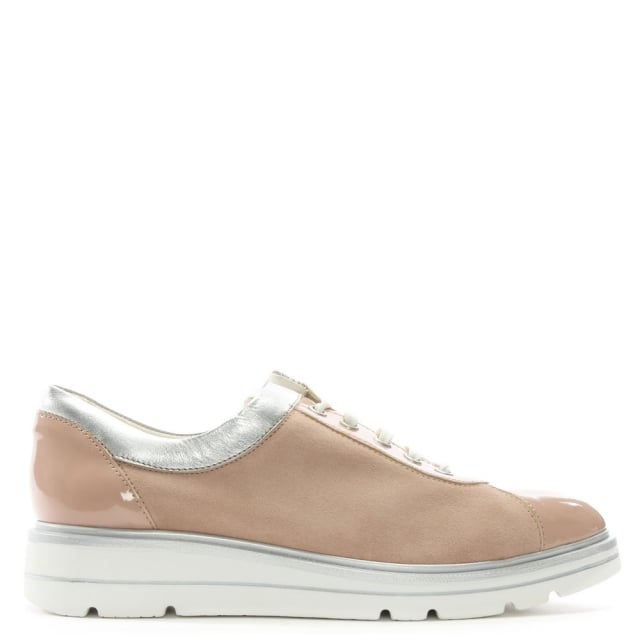savena-pink-suede-low-wedge-trainers