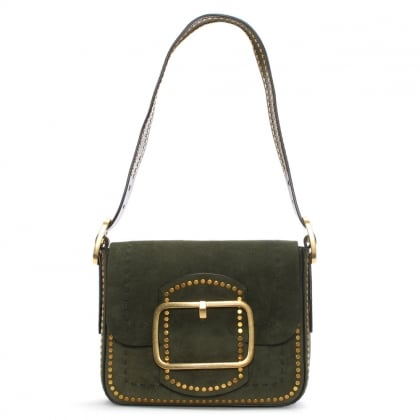 Sawyer Boxwood Suede Shoulder Bag