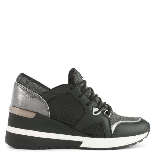 Scout Black Leather Trim Trainer