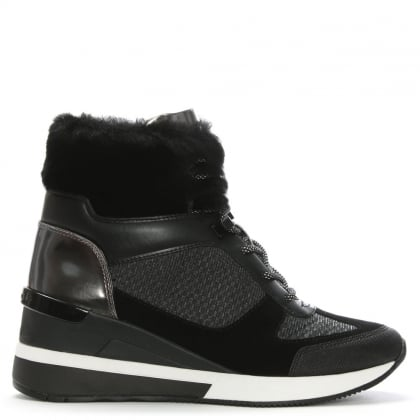 Scout Black Mixed Media High Top Trainers