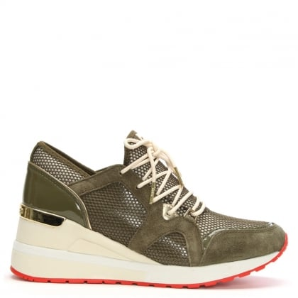Scout Olive Suede Trim Trainers
