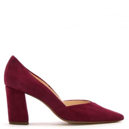 Sculpt Burgundy  Suede Court Shoes