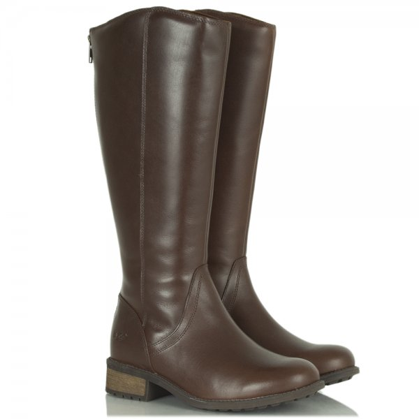 2a79f994b4d Seldon Dark Chestnut Leather Knee Boot