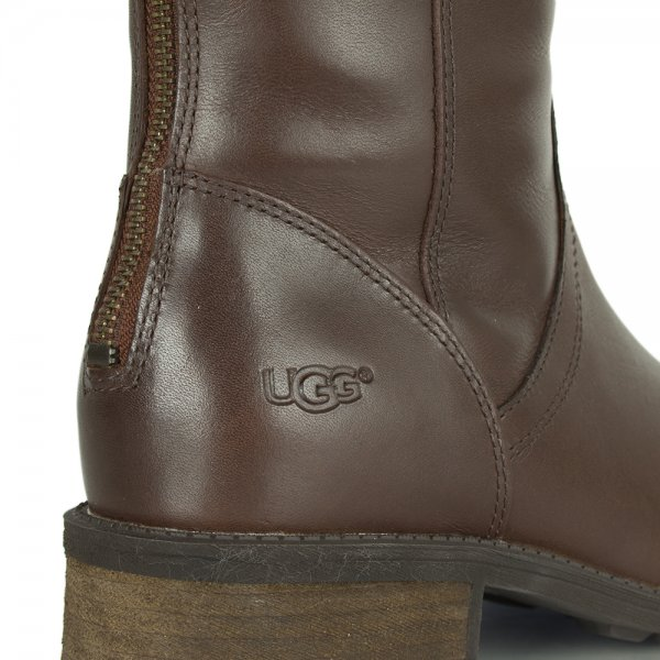 Seldon Dark Chestnut Leather Knee Boot