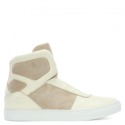 Sentient Beige Suede Lace Up High Tops