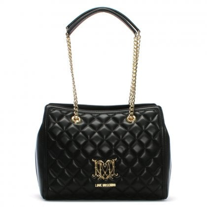 Setter Black Quilted Day Bag