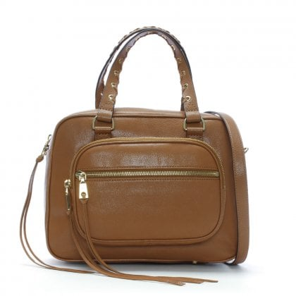 Shanna Driftwood Leather Satchel Bag
