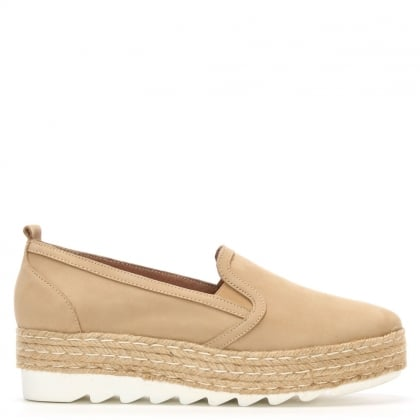 Shirlington Beige Suede Espadrille Loafer