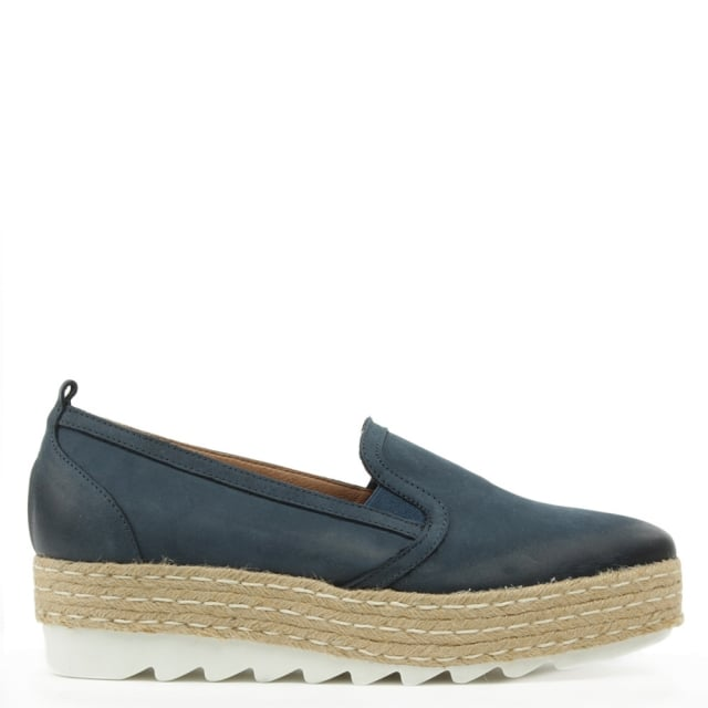 Shirlington Blue Suede Espadrille Loafer