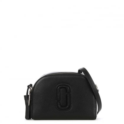 Shutter Black Leather Small Camera Bag