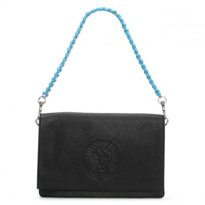 Sideman Black Leather Shoulder Bag