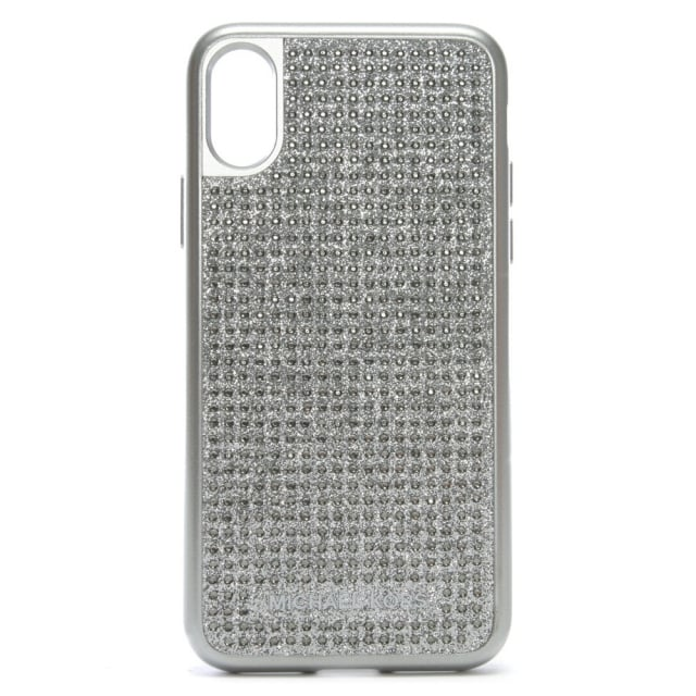 reputable site 0a346 aef7c Silver Electronic Diamante iPhone X Case