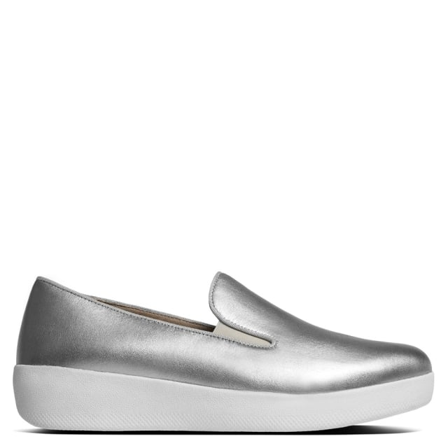 Silver Leather Superskate Pumps