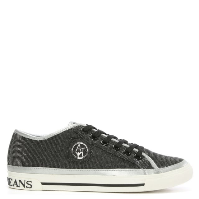 Silver Metallic Low Top Trainer