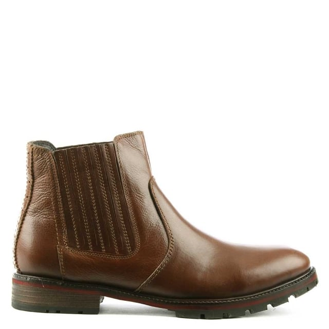 Silvestri Tan Leather Chelsea Boot
