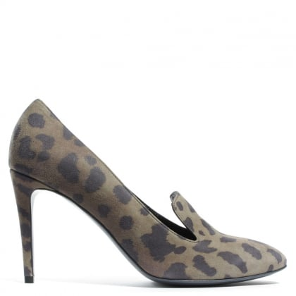 Simpson Leopard Suede Court Shoe